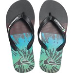 Quiksilver Flip-Flops, Molokai, Black/Red/Green