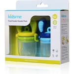 Kidsme Food Feeder, 4 + 6 månader, 2-pack, Aquamarine/lime
