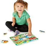 Melissa & Doug Wooden Peg Puzzle, Vehicles