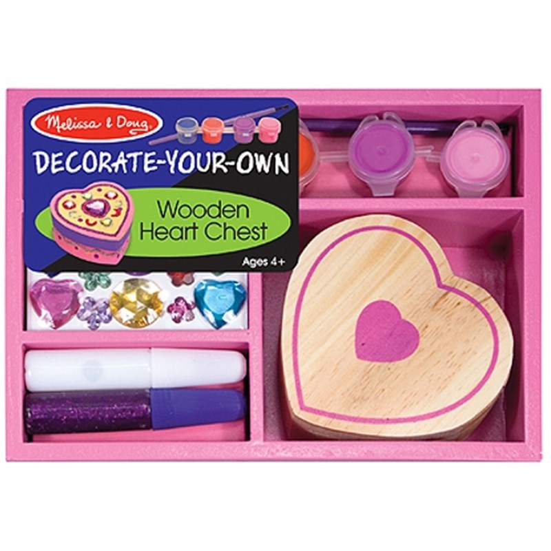 Läs mer om Melissa & DougDecorate your own, Wooden Heart Chest