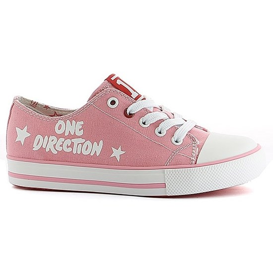 One Direction Sneakers, Low, Coral