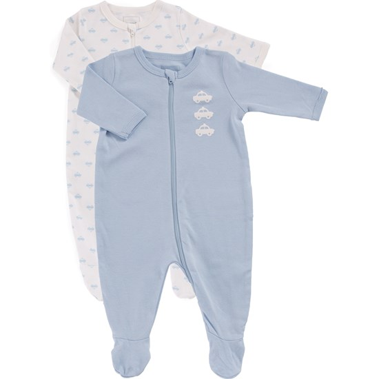 Name It Pyjamas, Nightsuit, 2-pack, Baby, Cashmere Blue