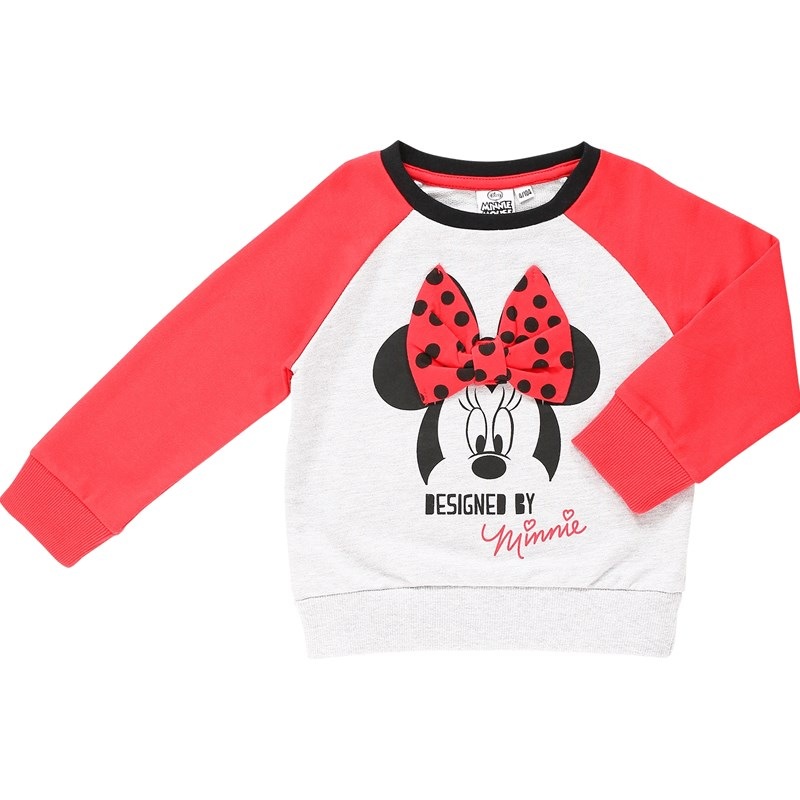 Läs mer om Disney Minnie MouseSweatshirt, Black/Red128 cm