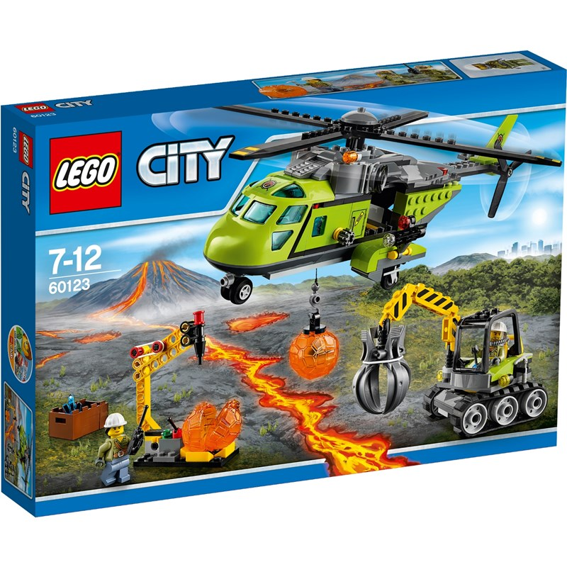 Läs mer om LEGO City Volcano ExploreLEGO City, 60123, Vulkan transporthelikopter