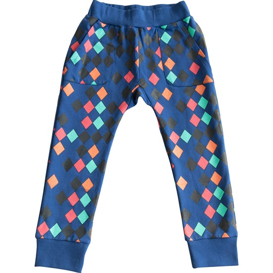 Gardner and the gang Byxor, Hang out pant Harlequin, Blue