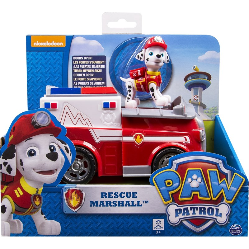 Läs mer om Paw PatrolBasic Vehicle With Pup, Rescue Marshall