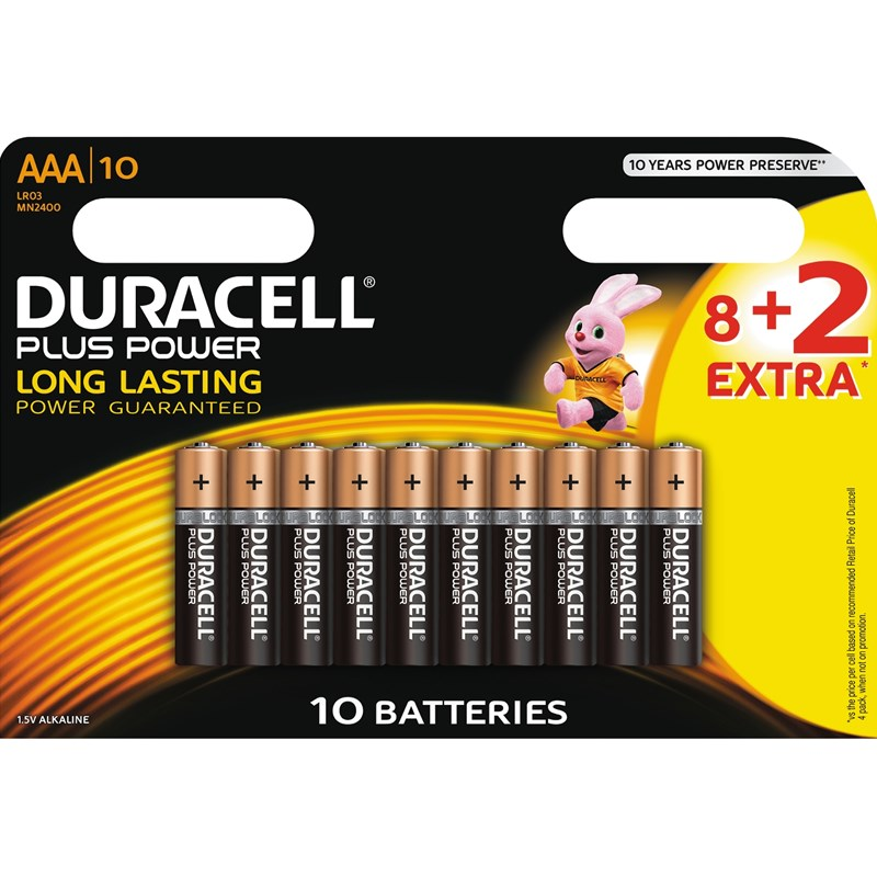 Duracell Duracell Plus Power AAA 8+2pk One Size