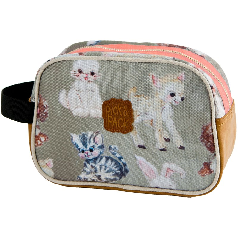 Pick & Pack Necessär Cute Animals Taupe One Size