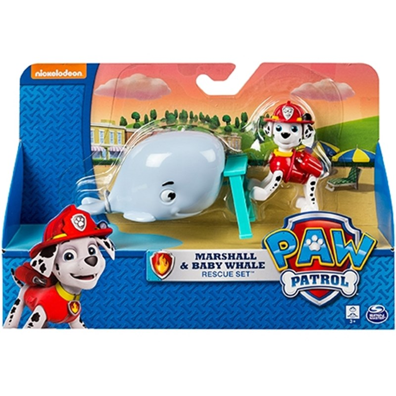 Läs mer om Paw PatrolRescue Action Pack with friends, Marshall & Baby Whale