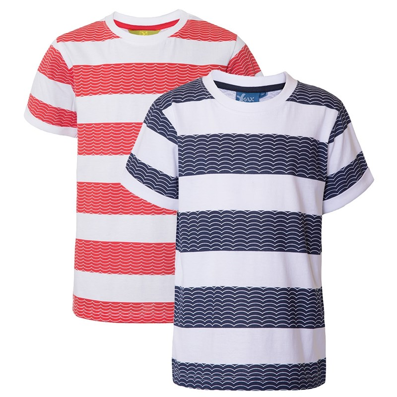 Läs mer om Max CollectionT-shirt, 2-pack, Navy/Red92 cm