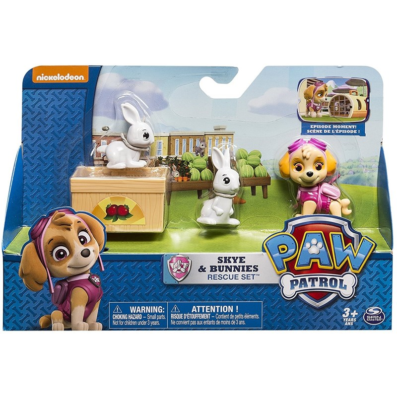 Läs mer om Paw PatrolRescue Action Pack with friends, Skye & Bunnies Rescue Set