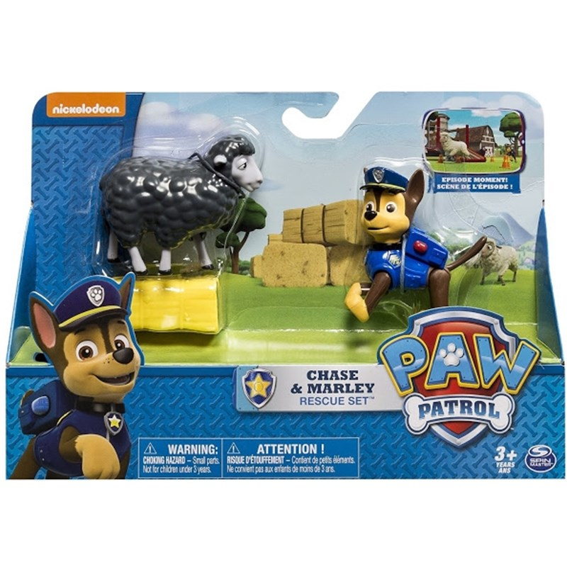 Läs mer om Paw PatrolRescue Action Pack with friends, Chase and Marley Rescue Set