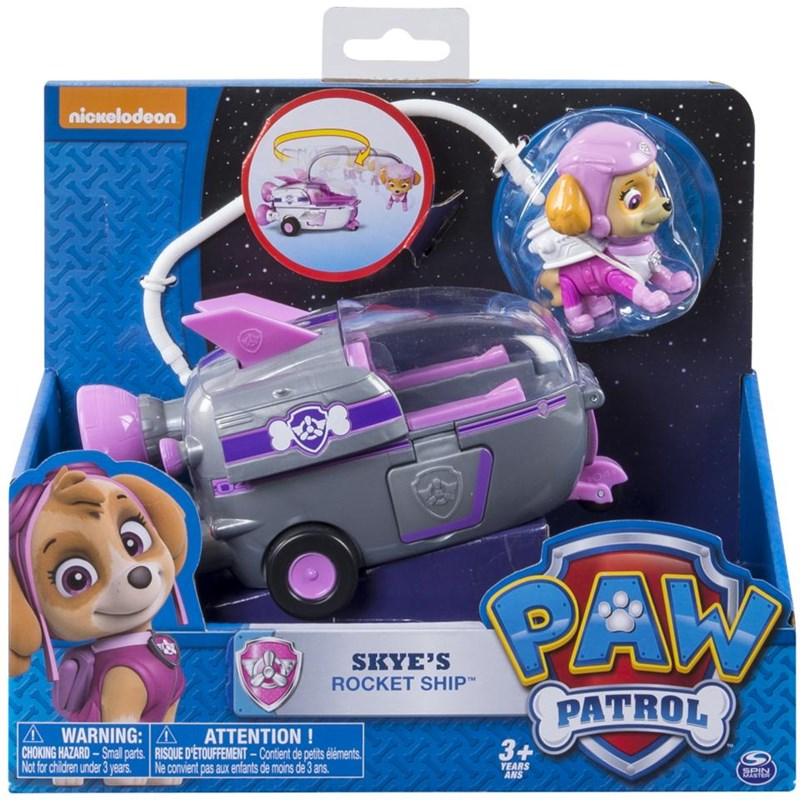 Läs mer om Paw PatrolBasic Vehicle With Pup, Skyes Rocket Ship