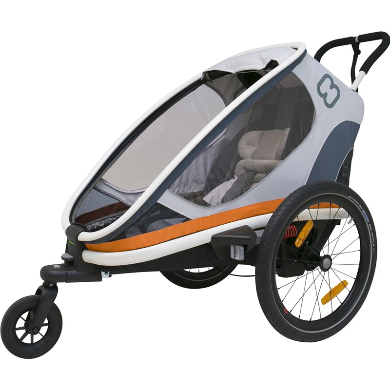 Hamax Cykelvagn Outback One White/Grey/Orange One Size