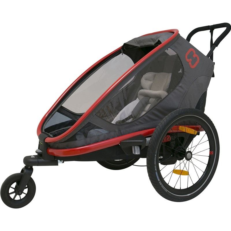 Läs mer om HamaxCykelvagn, Outback One, Red/Grey/Black