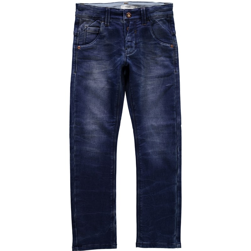 Läs mer om Name ItJeans, Thorsten, Kids, NOOS, Slim, Dark Blue Denim116 cm