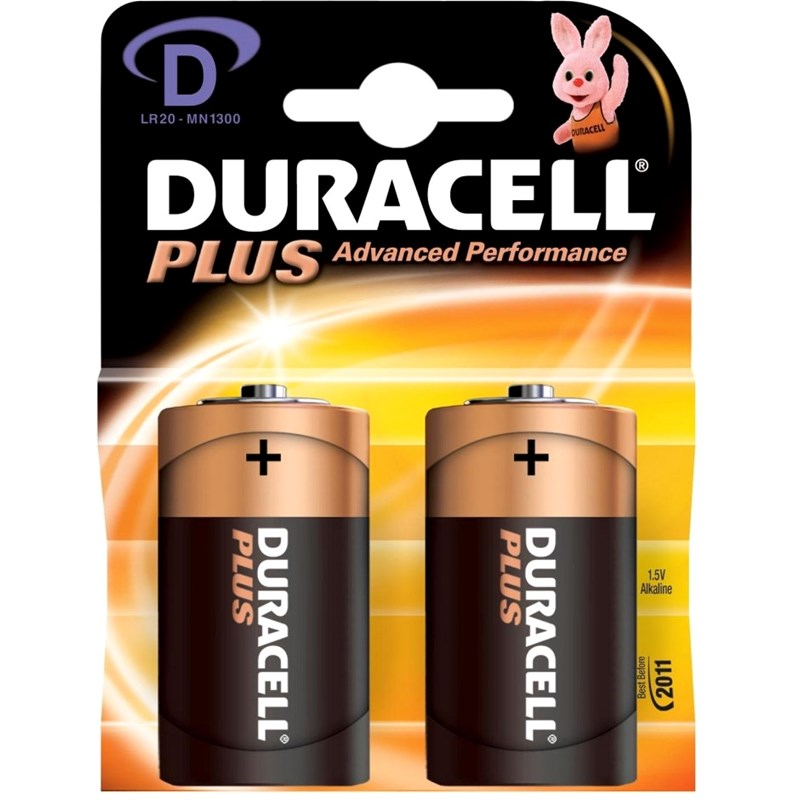 Duracell Duracell Plus Power D 2pk One Size