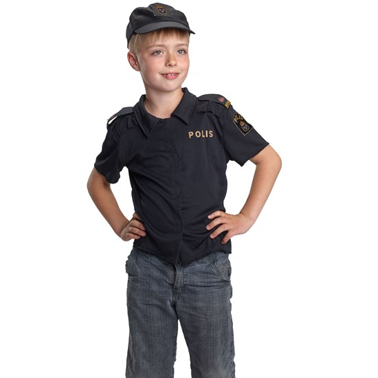 Polis Swedish Policeman Polo-shirt, Age 3-5