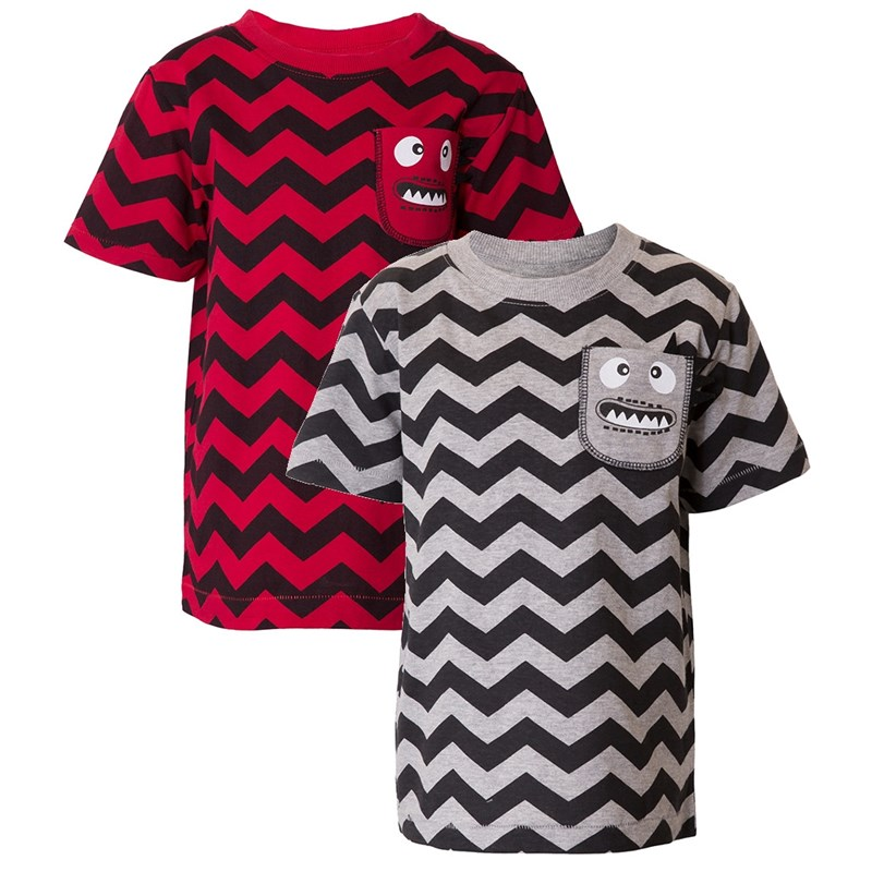 Läs mer om Max CollectionT-shirt, 2-pack, Grey/Red98 cm