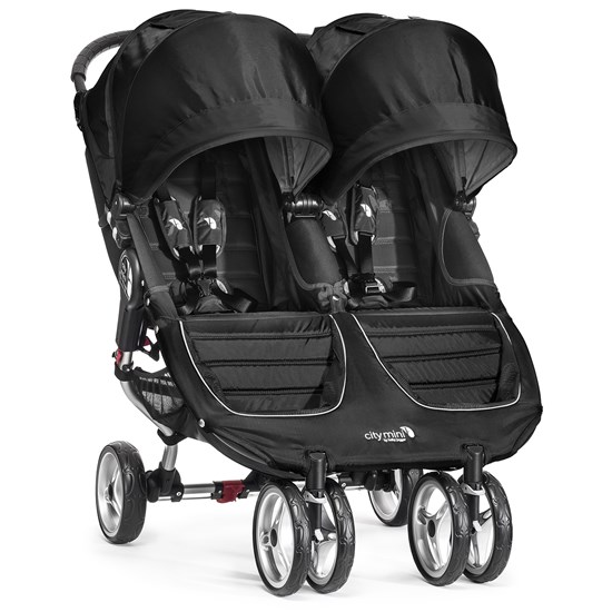Babyjogger Sittvagn, City Mini Double, Black/Grey
