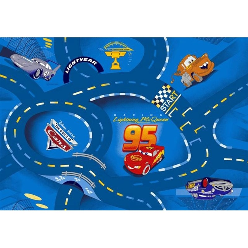 Läs mer om Associated WeaverDisney Pixar Cars, Matta, 95 x 133 cm, World of Cars, Blå