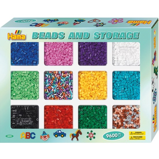 Hama Pärlor, Midi Beads and Storage, 9600 st