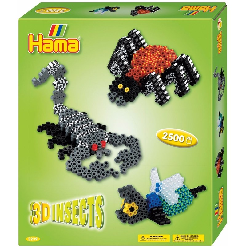 Hama Pärlor Midi Gift Box 3D Insects 2500 st 3 – 12 years
