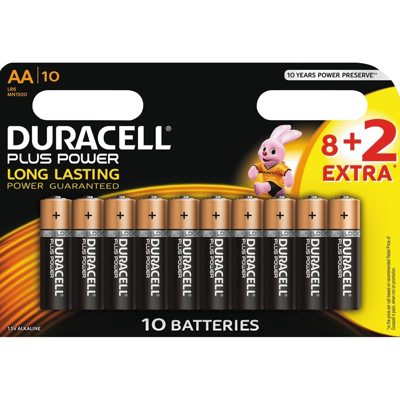 Duracell Duracell Plus Power AA 8+2pk One Size