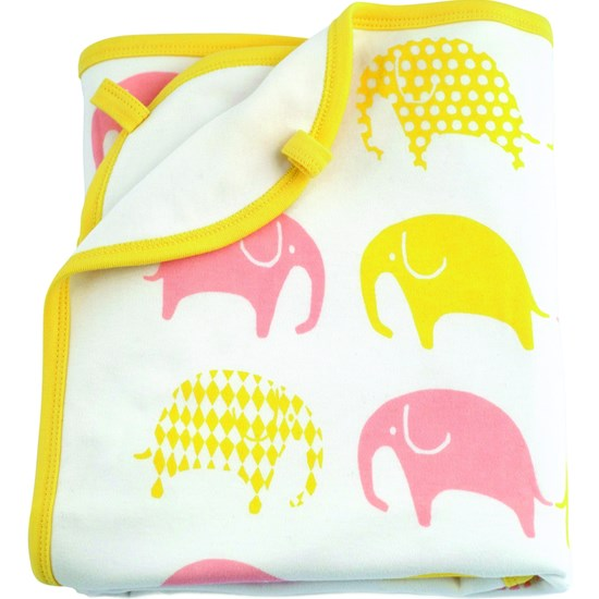 Littlephant Blanket Elephant White/Yellow/Pink