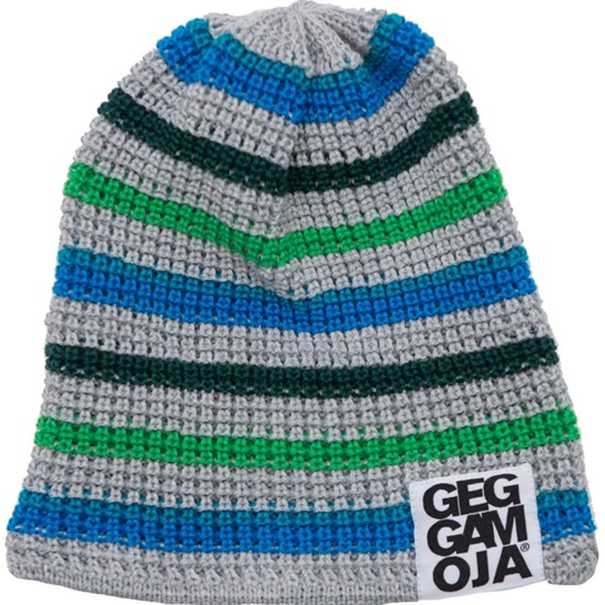 Geggamoja Knitted Beanie Grey Blue