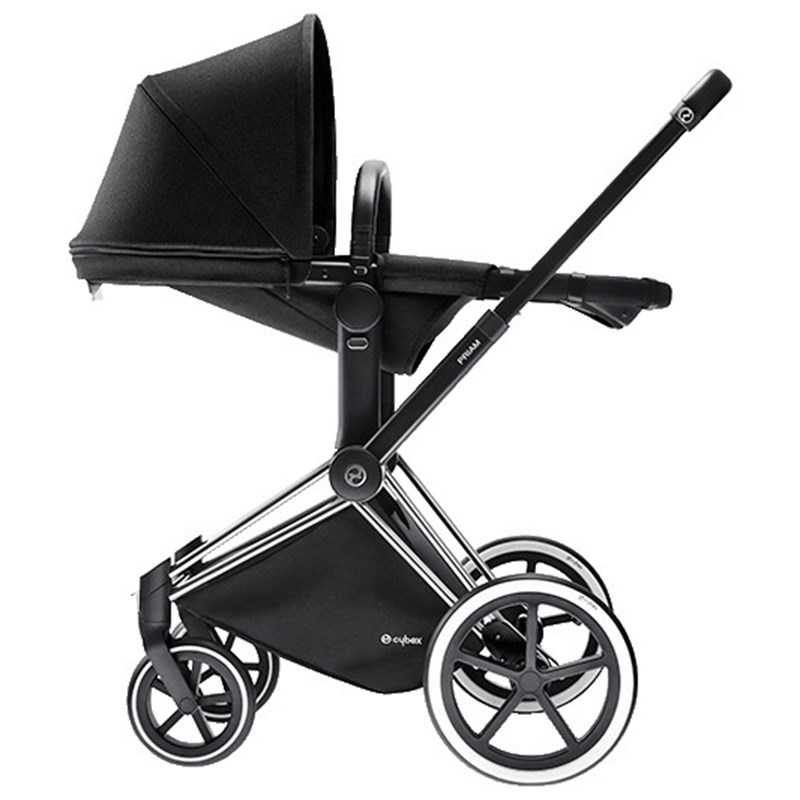 Cybex Priam 2-in-1 Liggdel/Sittdel Platinum Line Happy Black One Size