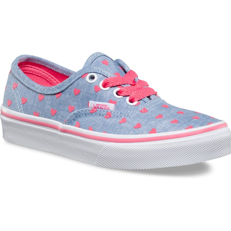 Läs mer om VansSneakers, Authentic, Chambray Hearts, Blue/True White30 (UK 12)