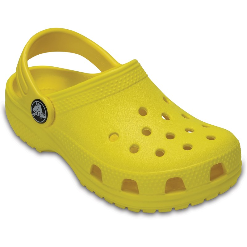 Crocs Tofflor, Kids Classic, Lemon 19-20 (UK 4)