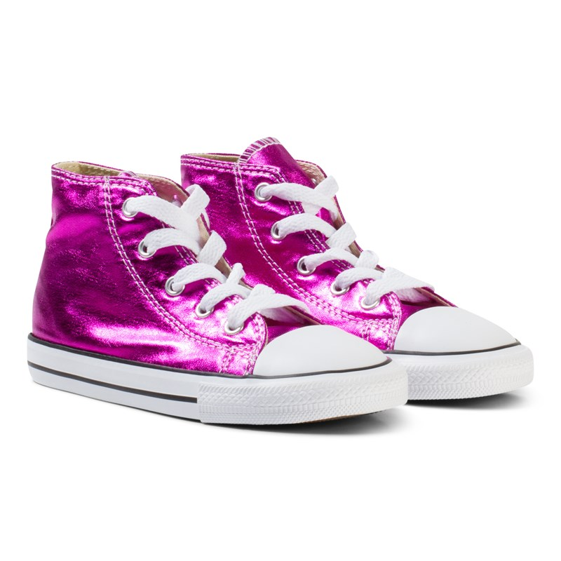 Läs mer om ConverseMetallic Pink Chuck Taylor All Star Hi Tops19 (UK 3)