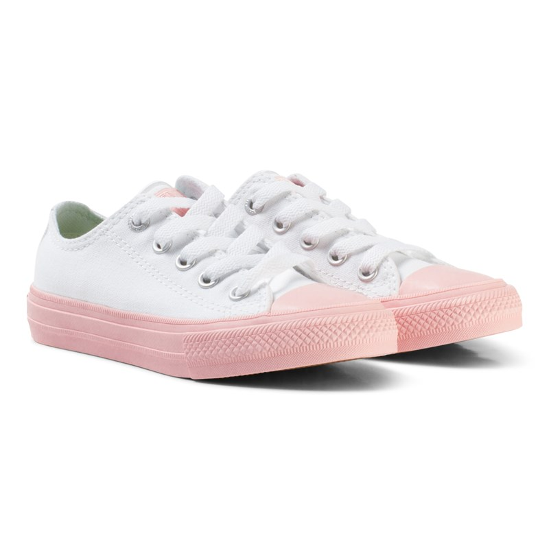 Läs mer om ConverseWhite Chuck II All Star with Pink Sole27 (UK 10)