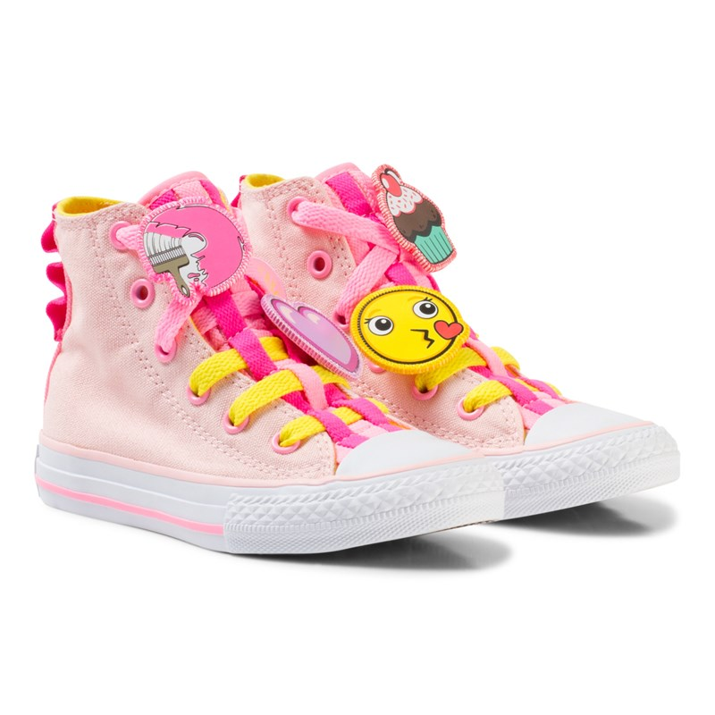 Läs mer om ConversePink Chuck Taylor All Star Emoji Energy Loophole Hi Tops27 (UK 10)