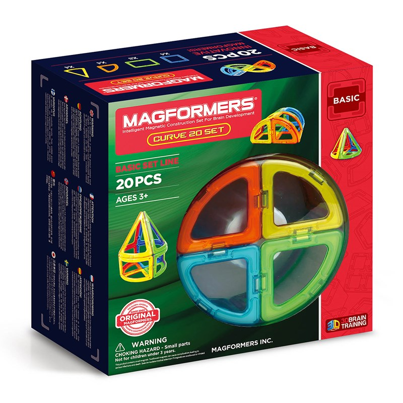 Magformers Grundset Curve 20 bitar One Size