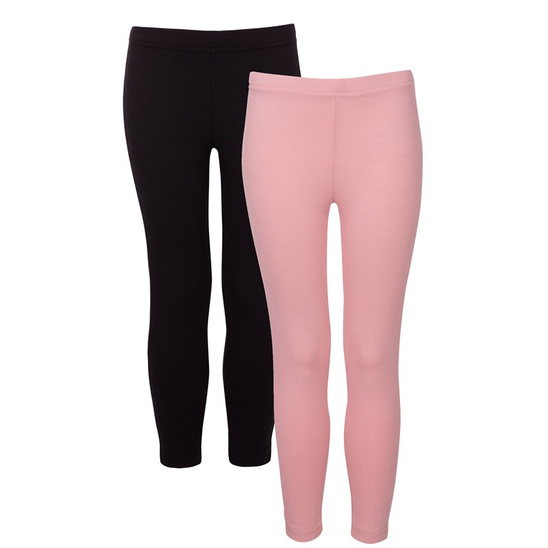 Läs mer om KulingBasic, Leggings, 2-pack, Svart/Old Pink92 cm