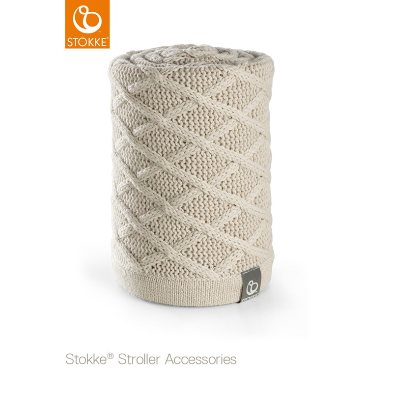 Stokke Knitted Blanket Cable Cream One Size