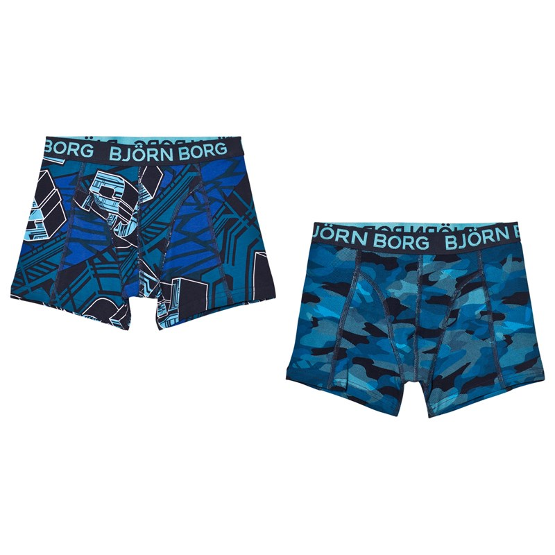 Läs mer om Bjorn Borg2 Pack of Black and Grey, Camo and Branded Trunks146-152cm (10-12 years)