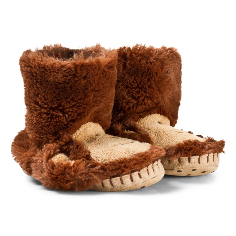 Läs mer om HatleyBrown Monkey Kids SlippersS (UK 5-7)