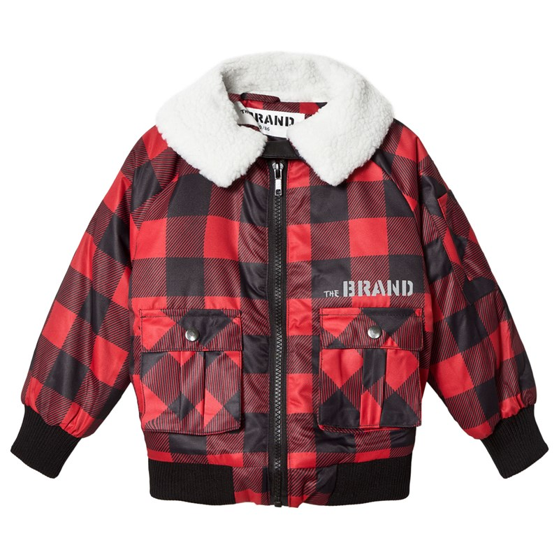 The BRAND Pilot Sherling Jacka Red Checked 92/98 cm