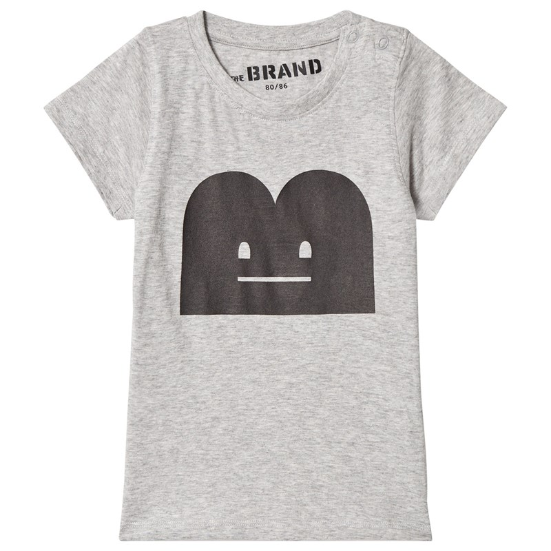 Läs mer om The BRANDB-Moji Tee Grey Mel With Black B-Moji80/86 cm