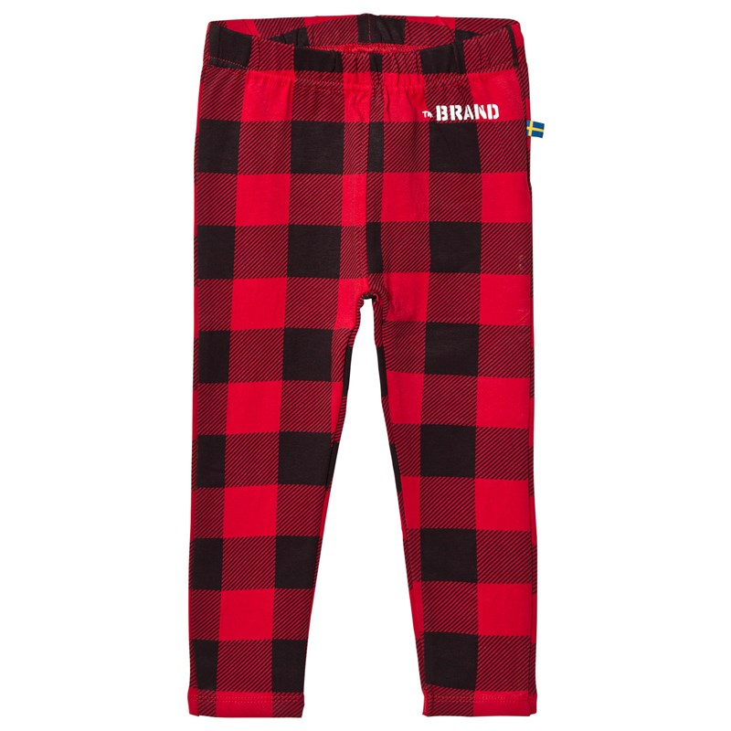 Läs mer om The BRANDLeggings Checkered Red80/86 cm