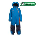 Bergans Vinteroverall, Snøtind Insulated, Kids, Light Sea Blue/Navy/Koi Orange
