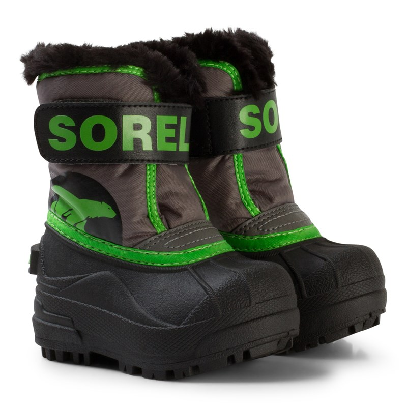 SorelToddler Snow Commander Quarry Cyber Green21 EU