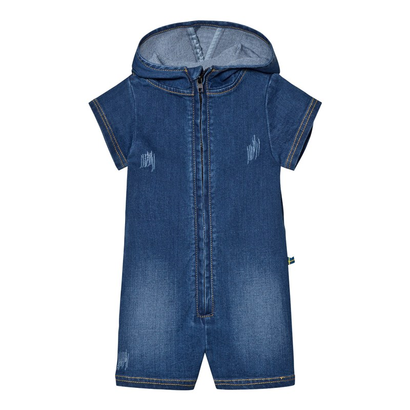 The BRAND Romper Stonewashed Blue 56/62 cm
