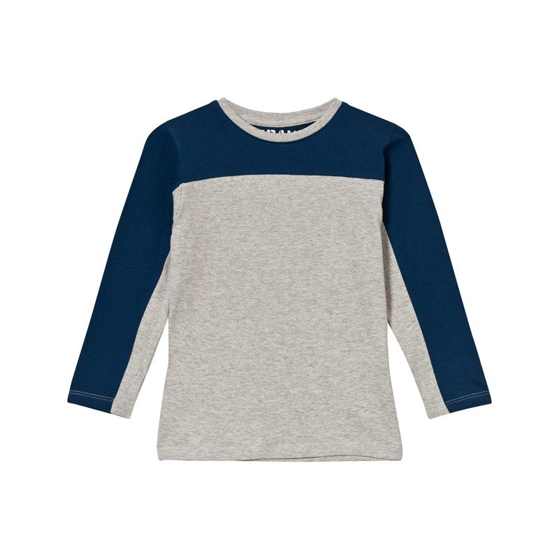 Läs mer om The BRANDStripe LS Tee Grey Mel/Blue80/86 cm
