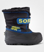 Sorel Childrens Snow Commander™ Black, Super Blue