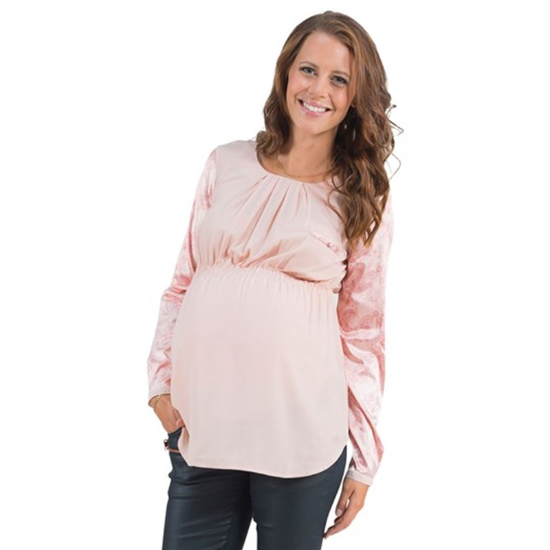 Mom2moM Blouse Contrast Blush 38